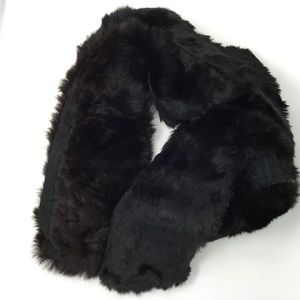 Vintage Very Long Black Fur Stole